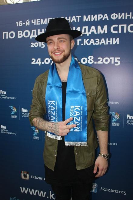 Егор Крид посол Чемпионата мира по водным видам спорта 2015