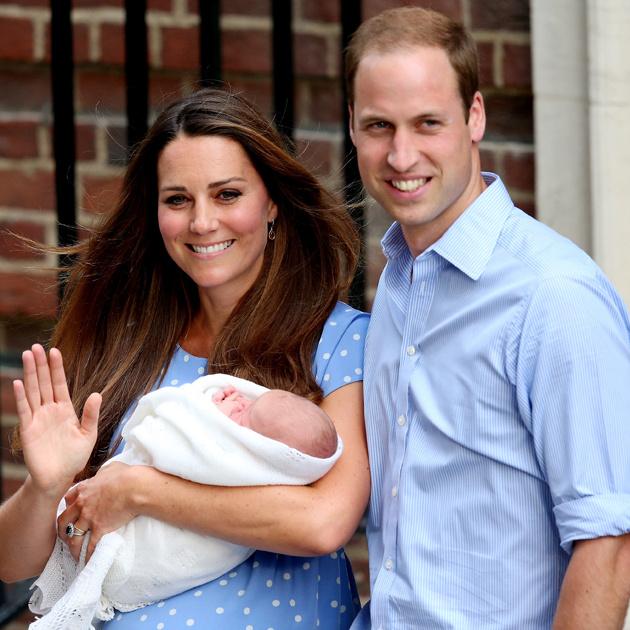 Кейт Миддлтон, принц Уильям и принц Джордж