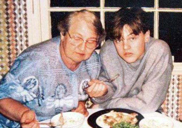 Леонардо Ди Каприо с бабушкой