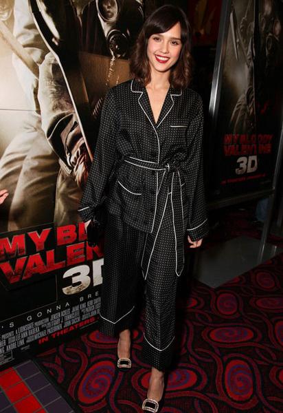 Джессика на премьере фильма «Мой кровавый Валентин 3-d»