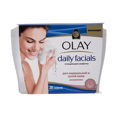 ПенитсяСалфетки Daily Facials, Olay, предназначены для тех, у кого под вечер не остается сил на себя. Благодаря им макияж с лица и глаз можно снять, даже стоя под душем.