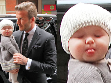Дэвид Бекхэм (David Beckham) с дочерью Харпер Севен.