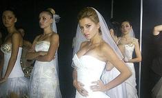 Ксения Бородина примерила свадебное платье
