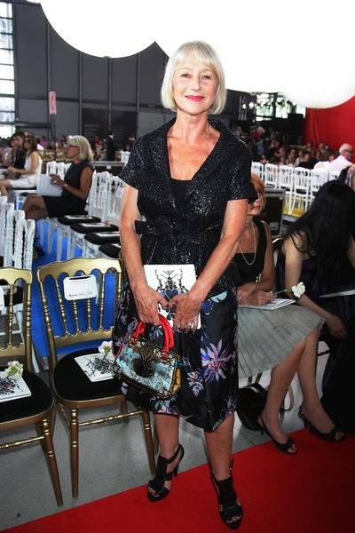 Хелен Миррен (Helen Mirren) на показе Chanel