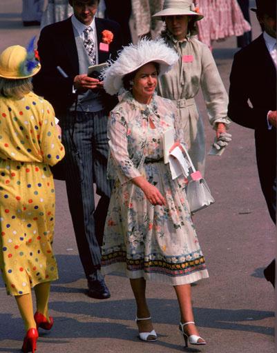 Принцесса Маргарет на скачках в Аскоте, 1979 год