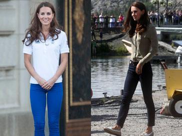 Кейт Миддлтон (Kate Middletone) раньше редко можно было увидеть в джинсах