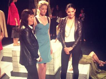 Кэти Холмс (Katie Holmes) на презентации коллекции весна-лето 2013 в рамках Недели моды в Нью-Йорке
