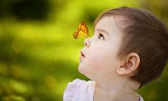 Милота дня: бабочка приняла младенца за цветок