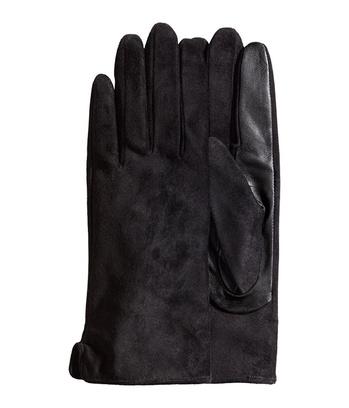 Перчатки из кожи и замши
