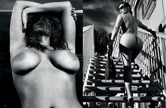 Обнаженная Ким Кардашьян: фото