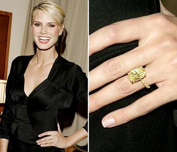 От певца Сила (Seal) Хайди Клум достался чрезвычайно редкий желтый бриллиант в 10 карат.
