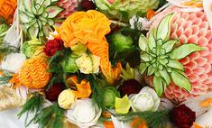 Карвинг: живые цветы своими руками