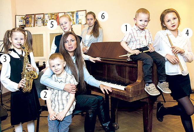 Екатерина Кирмель, 6 детей