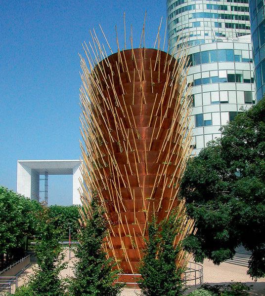 Вентиляционная труба, архитекторы Эдуард Франсуа и Патрик Блан, Париж, 2004.