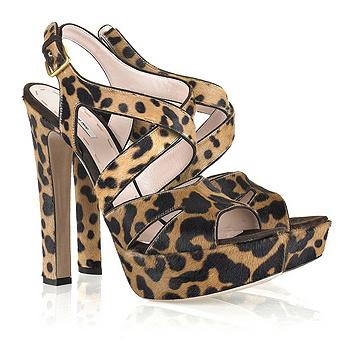 Туфли со звериным принтом