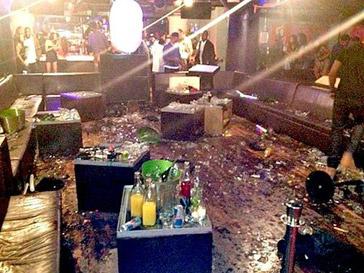 Так выглядел клуб после драки Криса Брауна и Дриззи Дрейка