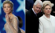 Снято: Клинтон глазел на Иванку Трамп, а Хилари заметила