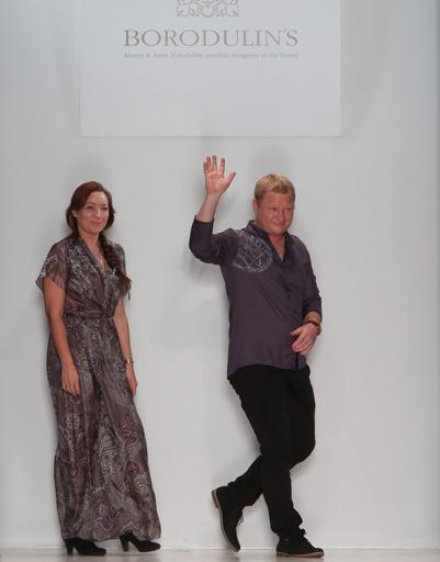 Анна и Алексей Бородулины на показе Borodulin's весна-лето 2013