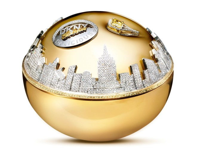 DKNY, Golden Delicious Million dollar Fragrance bottle, около 1 миллиона долларов