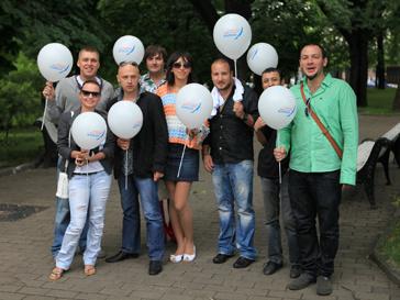 Участники акции в защиту Байкала