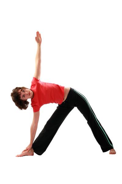 Упражнение 4: поза «треугольника»