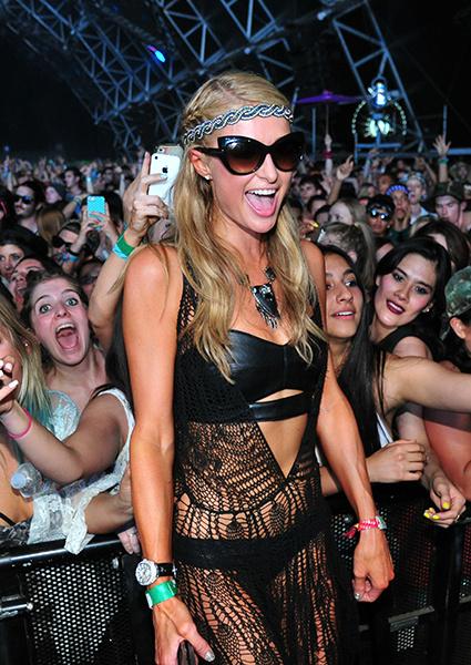 Пэрис Хилтон на фестивале Coachella-2014