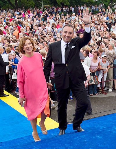Президент фестиваля Александр Роднянский с женой Валерией