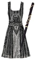 В моду вошли 20-е годы и стиль ар деко. Платье, Philosophy di Alberta Ferretti; мундштук, Shiny.