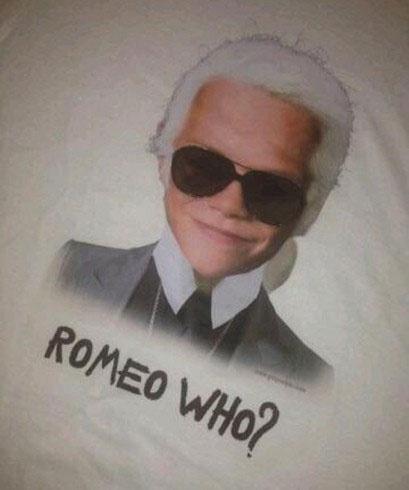 Ромео Бекхэм (Romeo Beckham) в образе Карла Лагерфельда (Karl Lagerfeld)