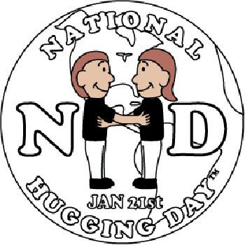 Официальная эмблема Международного дня объятий.
