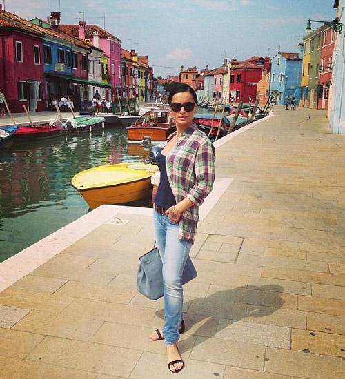 Тина Канделаки в Венеции