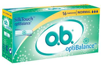Тампоны o.b. OptiBalance.