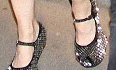 Мадонна вводит моду на обувь без каблуков