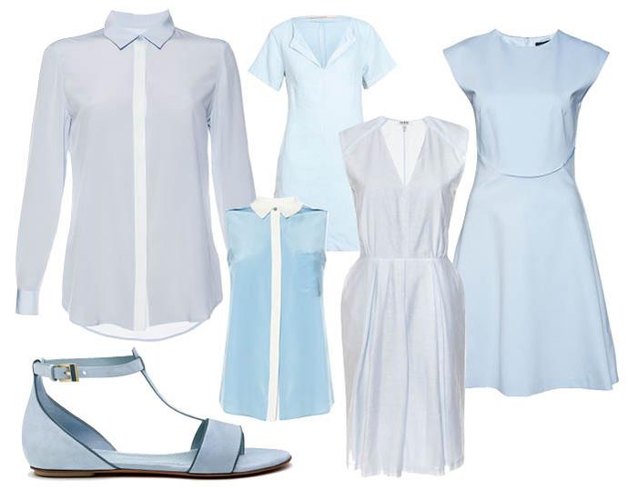 Рубашка Farhi by Nicole Farhi; платье SCHUMACHER; платье Farhi by Nicole Farhi; платье Ted Baker; босоножки Santoni; блуза Marc by Marc Jacobs