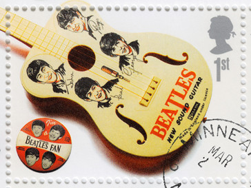 Почтовая марка с изображением The Beatles