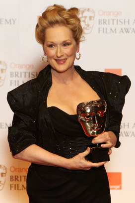 Мерил Стрип на премии BAFTA Film Awards 2012год