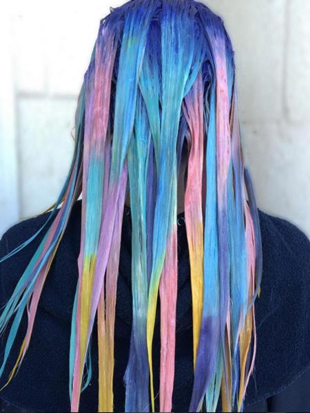 окрашивание волос в оттенки пирожных