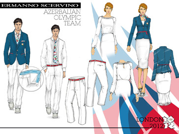 Эскизы формы сборной Азербайджана для Олимпийских игр 2012 года от Ermanno Scervino