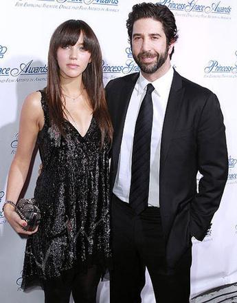 Дэвид Швиммер (David Schwimmer) с женой