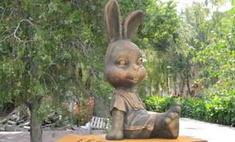 В Волгограде появилась скульптура зайки из стихотворения Агнии Барто
