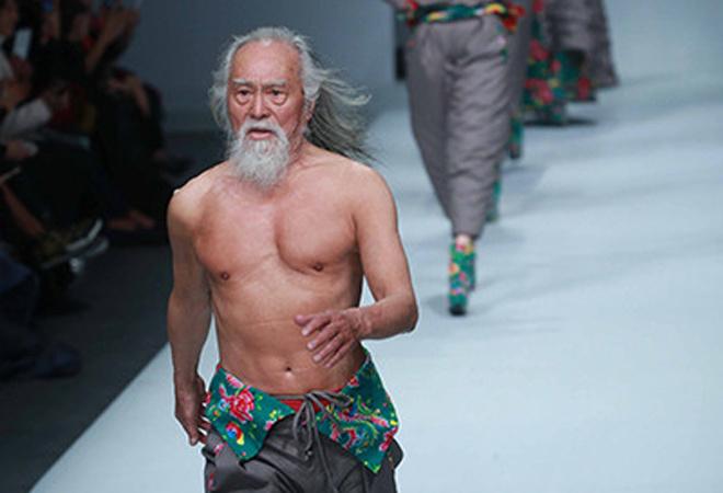 Дедушка-модель, фото