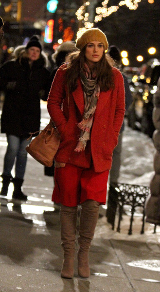 Кира Найтли на съемках в Нью-Йорке