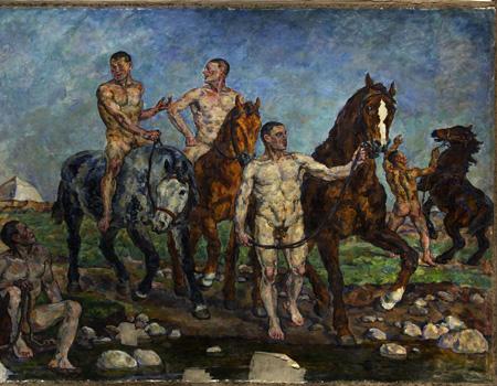 Купание красной конницы (Петр Кончаловский)