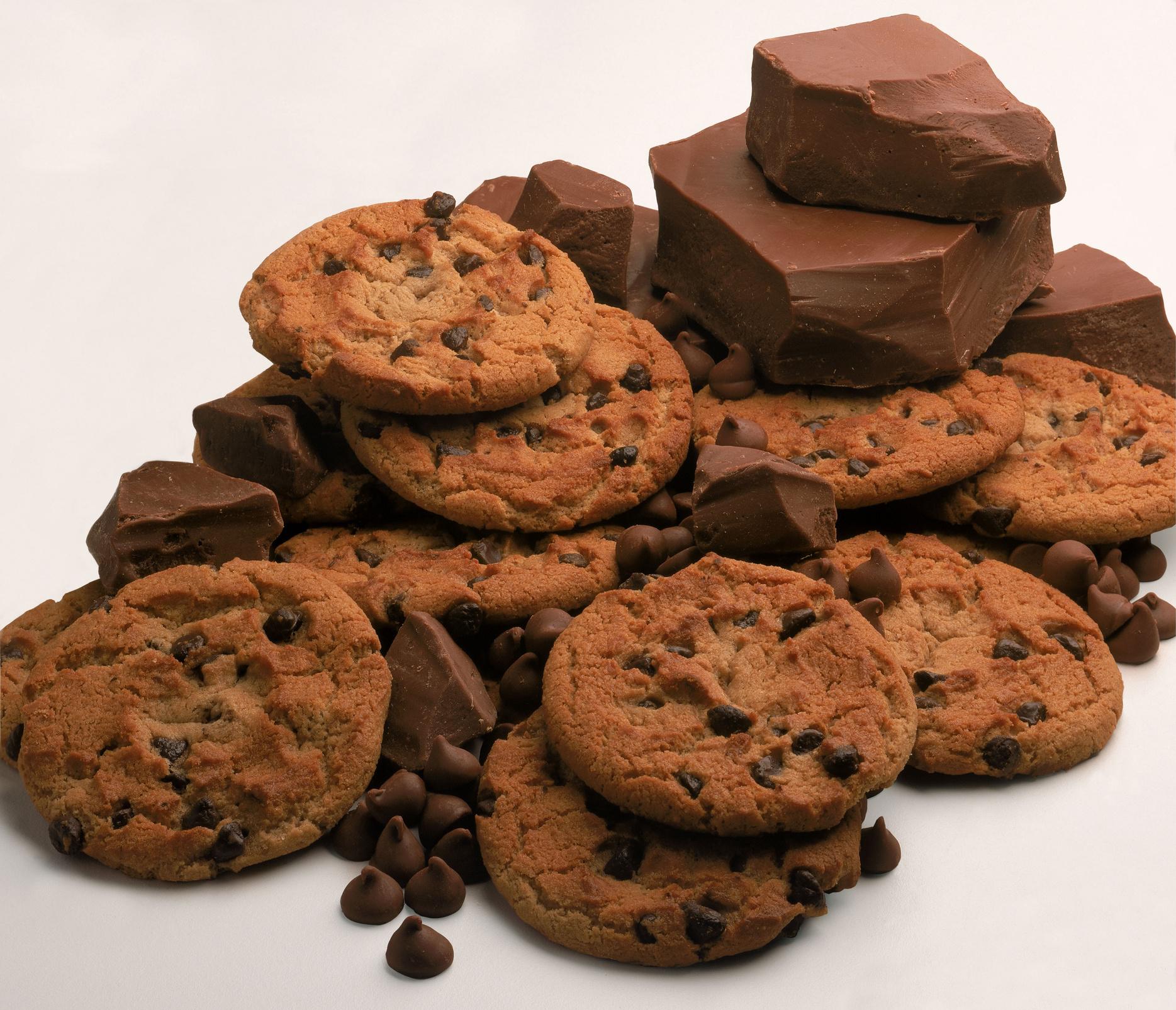 Печенье с черным шоколадом: оригинальный рецепт