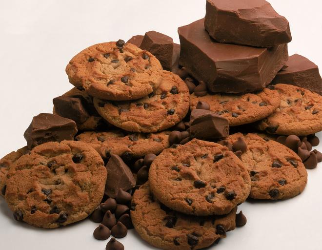 Как испечь печенье с шоколадом и изюмом