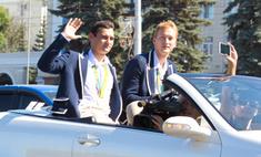 Олимпийский день: Сафин и Ахматхузин прогулялись по Уфе