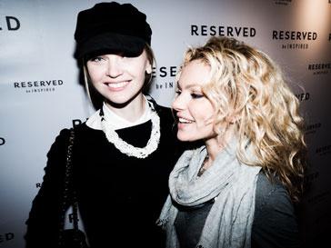 Лена Кулецкая и Маша Цигаль на открытие флагманского магазина Reserved