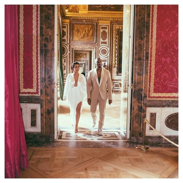 Ким Кардашьян и Канье Уэст в Версале
