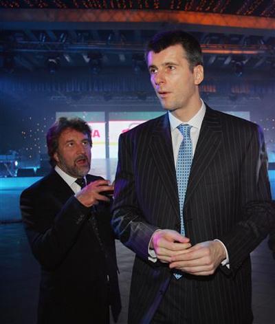 Леонид Ярмольник и Михаил Прохоров, 2008