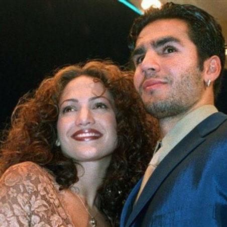 Лопес с первым мужем